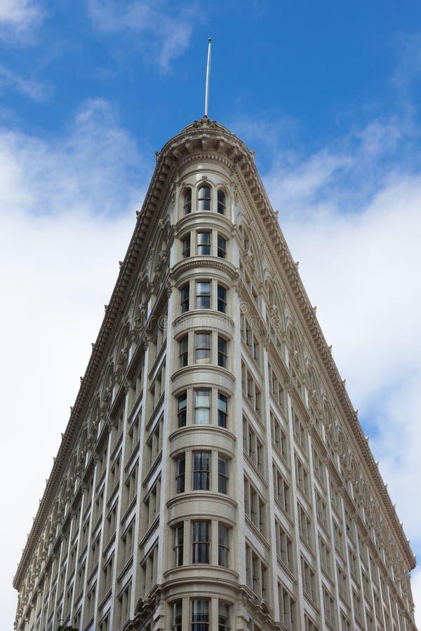 Здание Flatiron в San Francisco - Калифорния стоковые фото