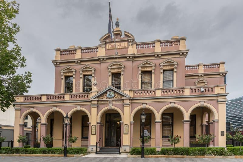 Здание Hall исторического города Parramatta, Австралии стоковая фотография rf