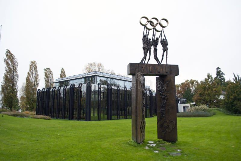 Здание Lausanne IOC стоковое изображение