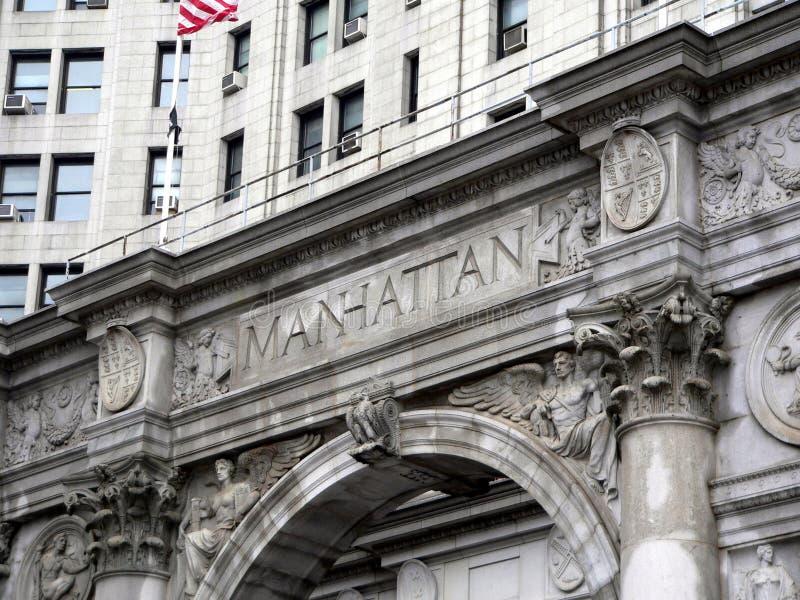 Download здание Manhattan муниципальный Стоковое Фото - изображение насчитывающей gotham, зала: 94498