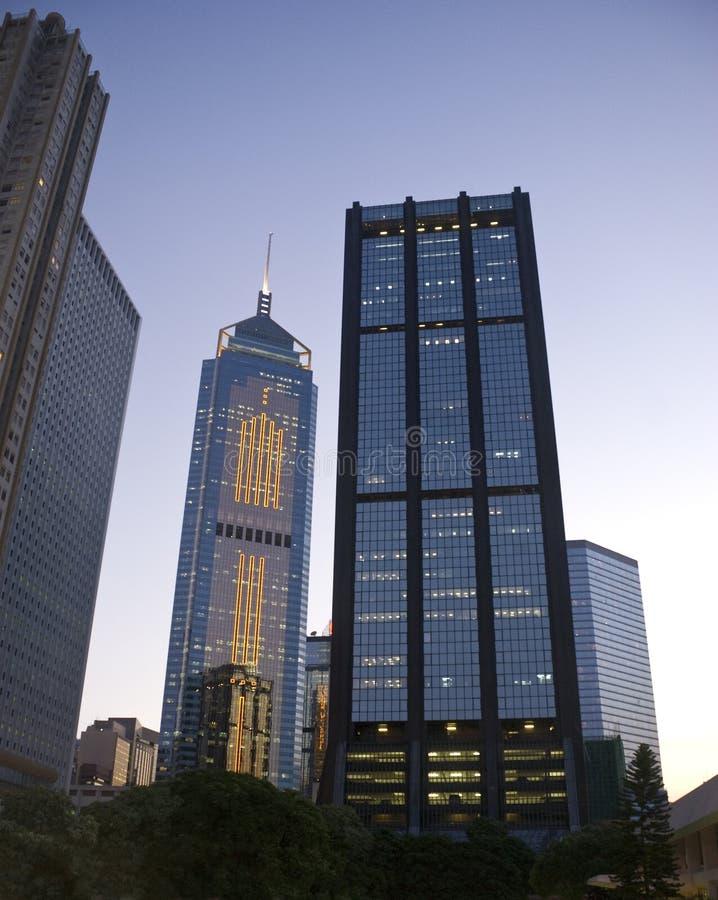 здания выравнивая Hong Kong стоковое фото