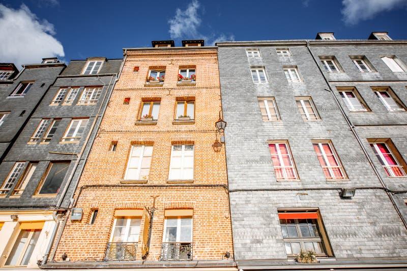 Здания в городке Honfleur, Франции стоковое фото