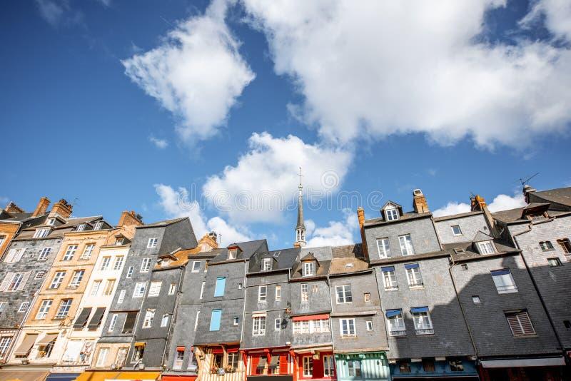 Здания в городке Honfleur, Франции стоковые изображения