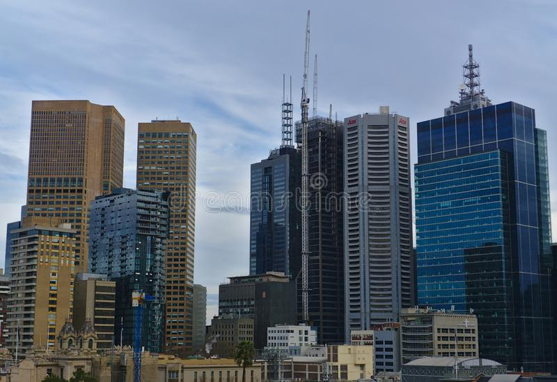 Здания в деловом районе Мельбурна центральном стоковое фото