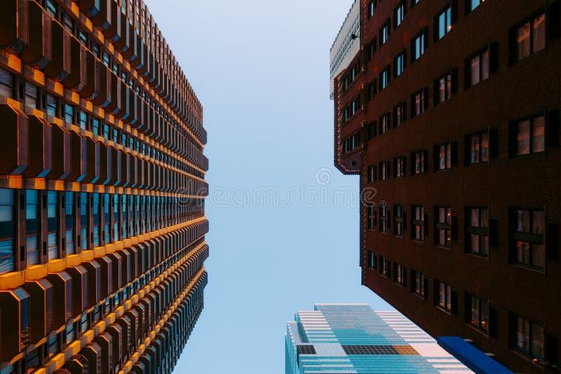 Здания в Манхэттене, Нью-Йорке, США стоковое фото