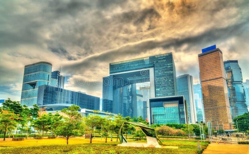Здания в месте Tamar центрального Гонконга стоковые изображения rf
