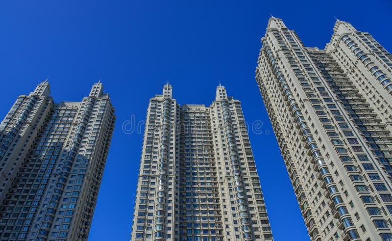 Здания в центре города в Харбин, Китае стоковые изображения