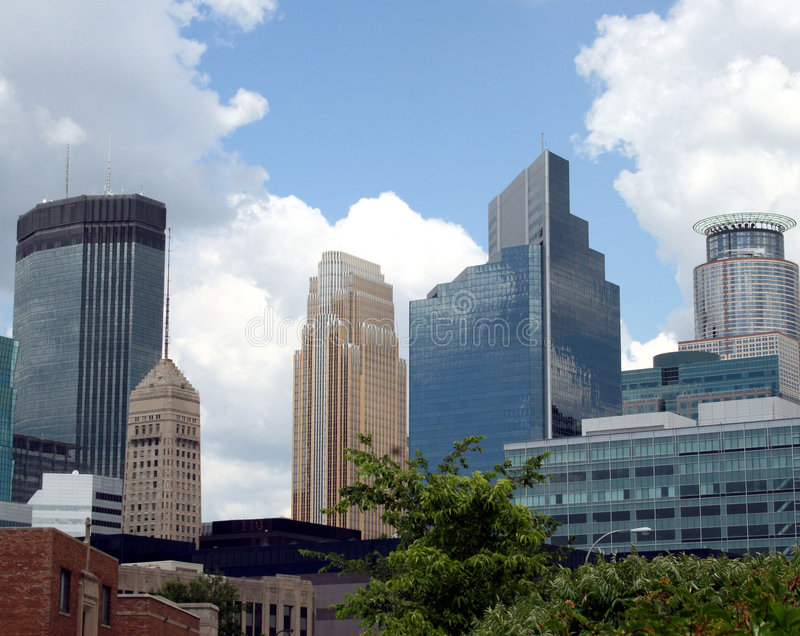 здания городской minneapolis стоковые фото