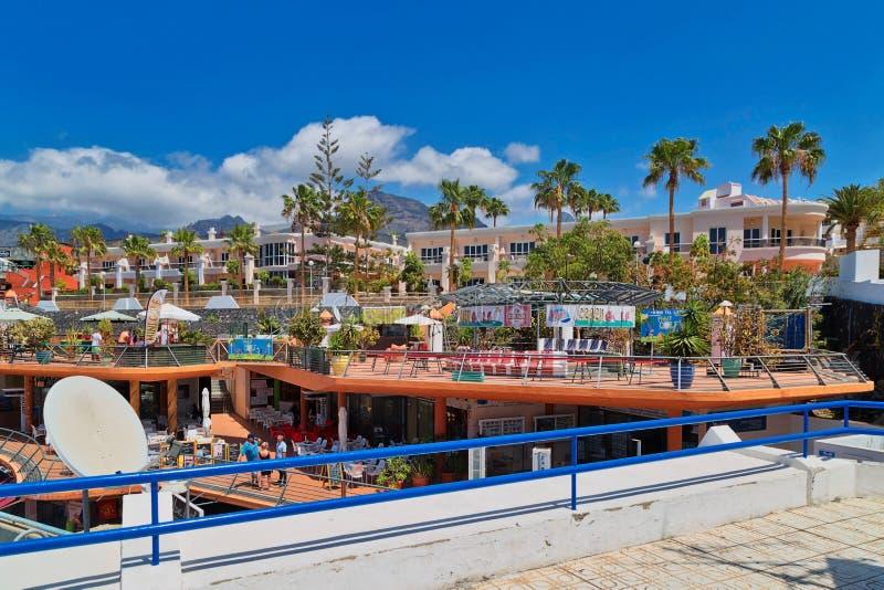 Здания инфраструктуры туризма на двоеточии приставают к берегу на Косте стоковое изображение rf