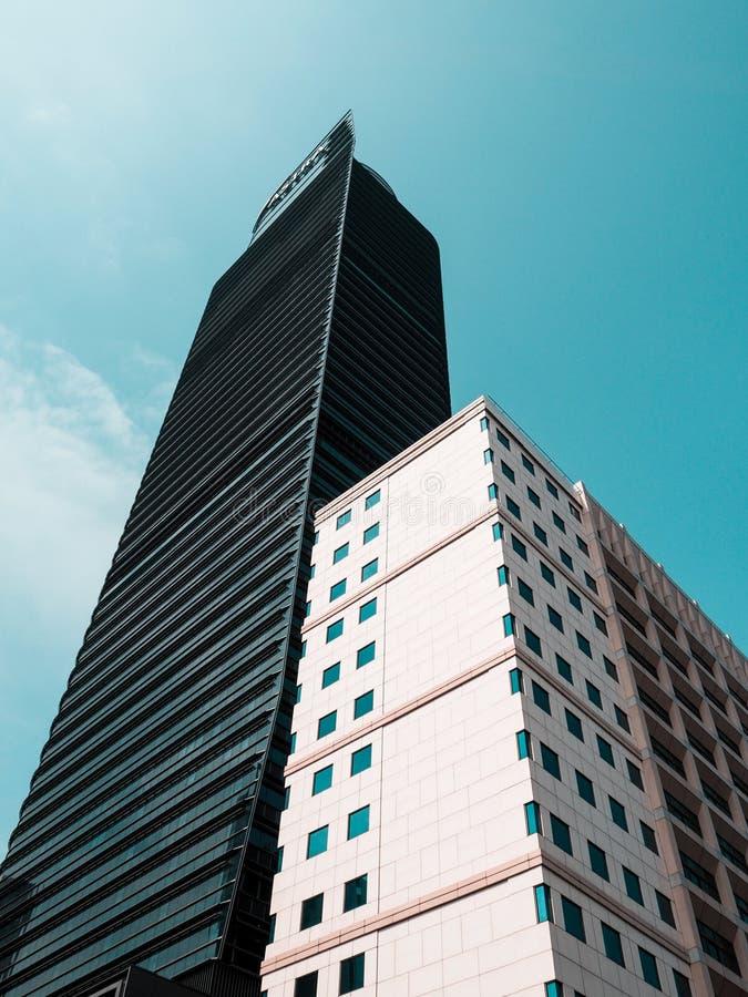 Здания от взгляда низкого угла стоковое фото rf