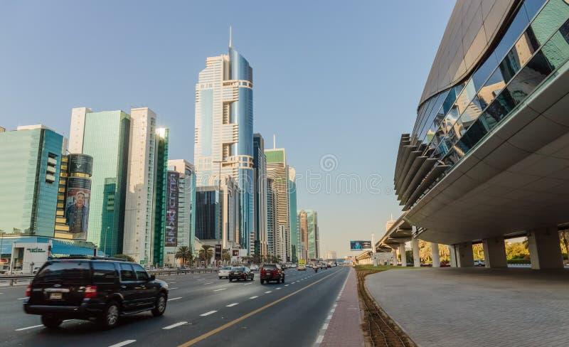 здания самомоднейшие Дубай был самым быстрым превращаясь городом в w стоковые изображения