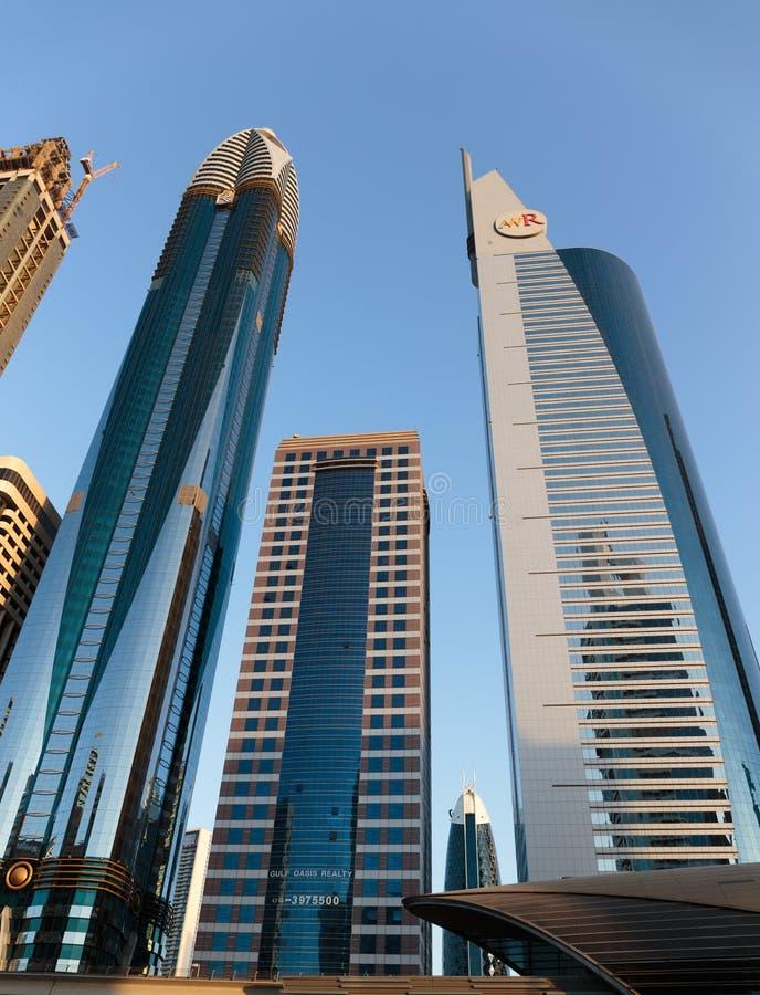 здания самомоднейшие Дубай был самым быстрым превращаясь городом в w стоковое фото