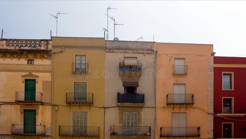 здания цветастые 5 старое стоковое фото rf