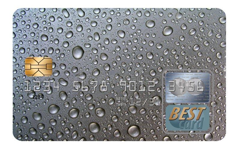 Здесь родовая кредитная карточка изолированная на белой предпосылке стоковые фото