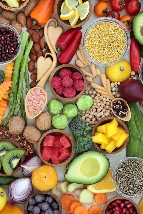 Здоровая еда для благополучия стоковые фотографии rf