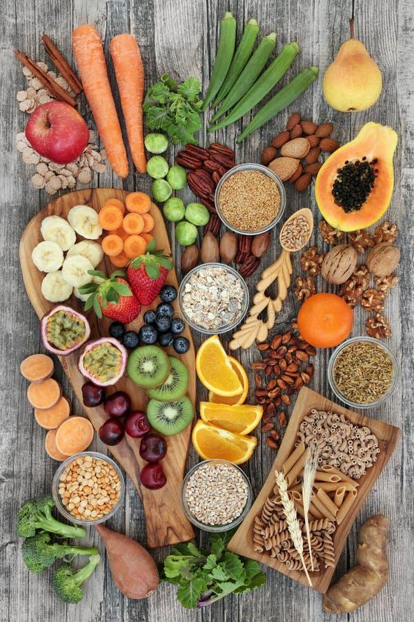 Здоровая еда для высокой диеты волокна стоковое изображение rf