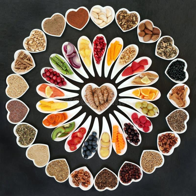 Здоровая еда для здорового сердца стоковое фото