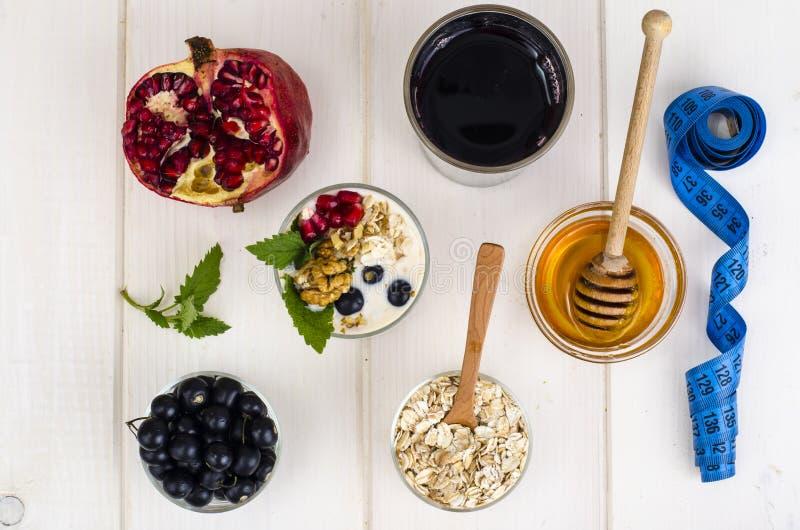 Здоровая еда, концепция потери веса стоковые изображения