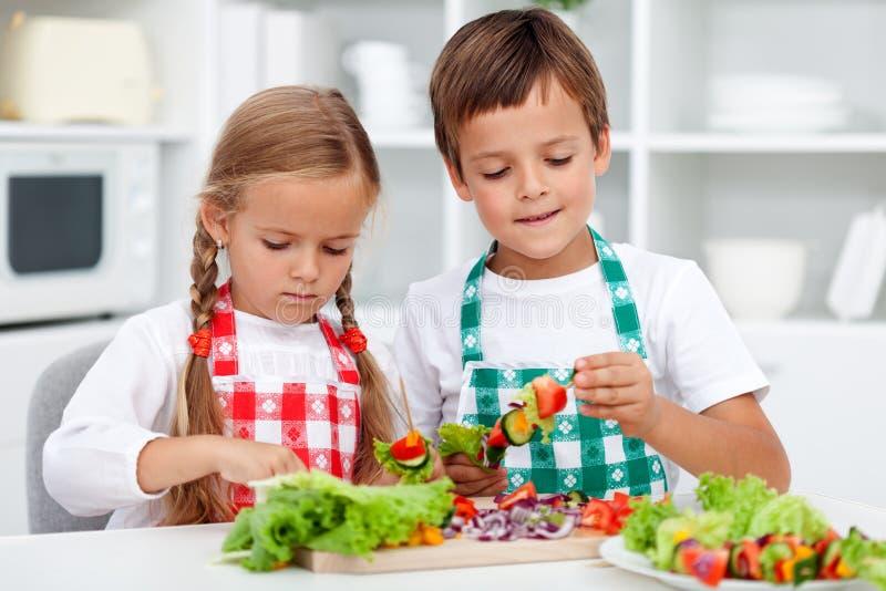 здоровая еда подготовляя стоковая фотография