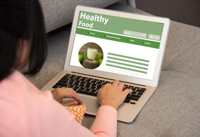 Здоровая еда через сеть стоковое фото