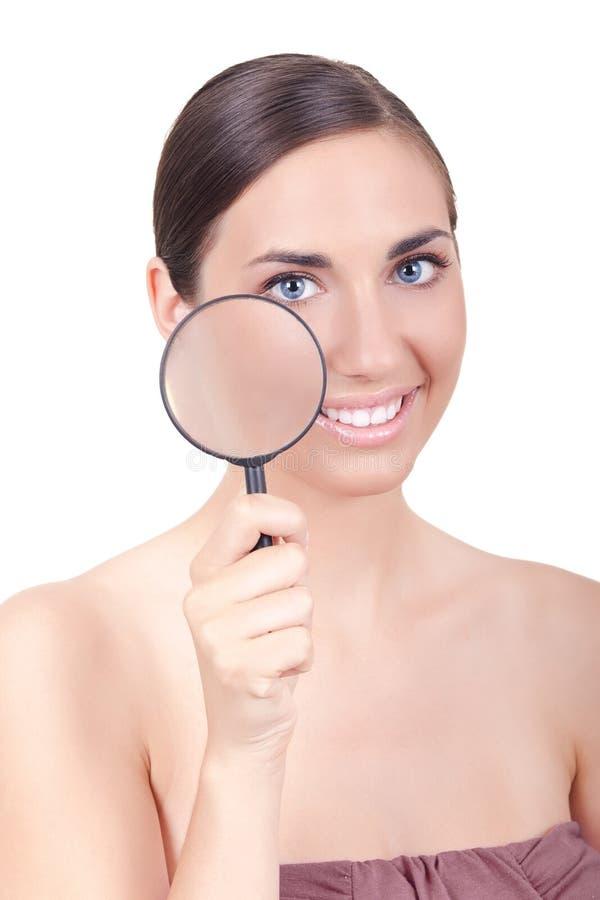 Download здоровая женщина кожи стоковое фото. изображение насчитывающей здорово - 18389006