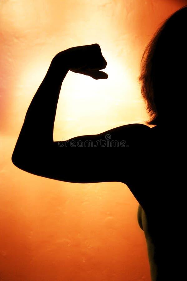 здоровая женщина силуэта стоковое фото
