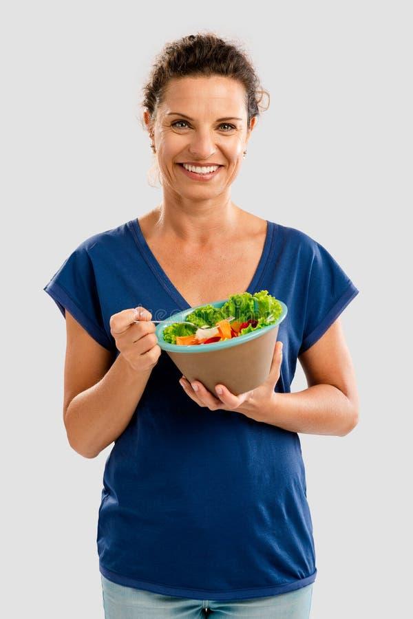 здоровая женщина стоковое фото rf