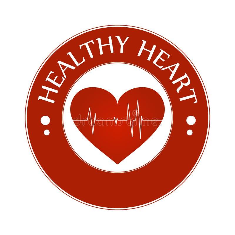 Здоровая иллюстрация вектора значка символа сердца изолированная с линией биения сердца бесплатная иллюстрация