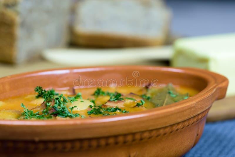 Здоровое блюдо - испеченные фасоли стоковая фотография rf