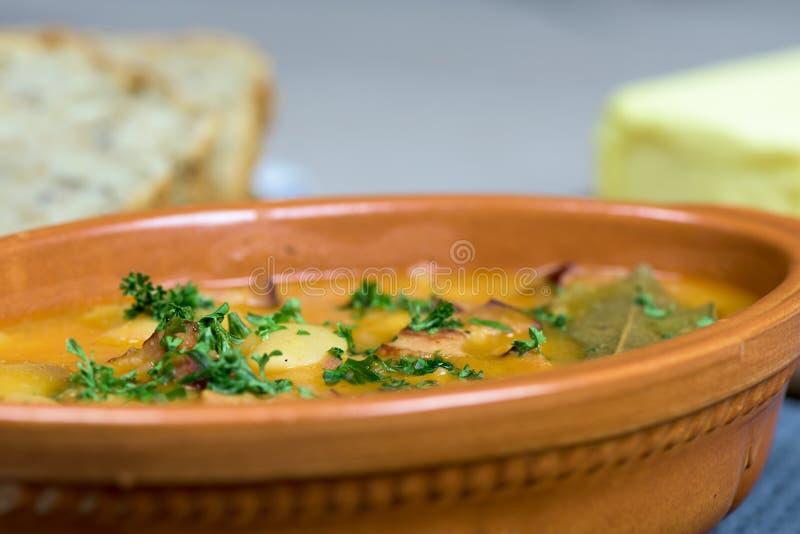 Здоровое блюдо - испеченные фасоли стоковое изображение