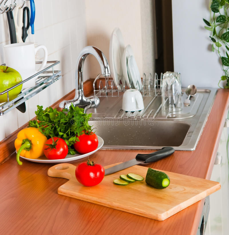 здоровые овощи кухни стоковая фотография rf