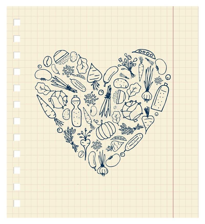 здоровые овощи формы жизни сердца бесплатная иллюстрация