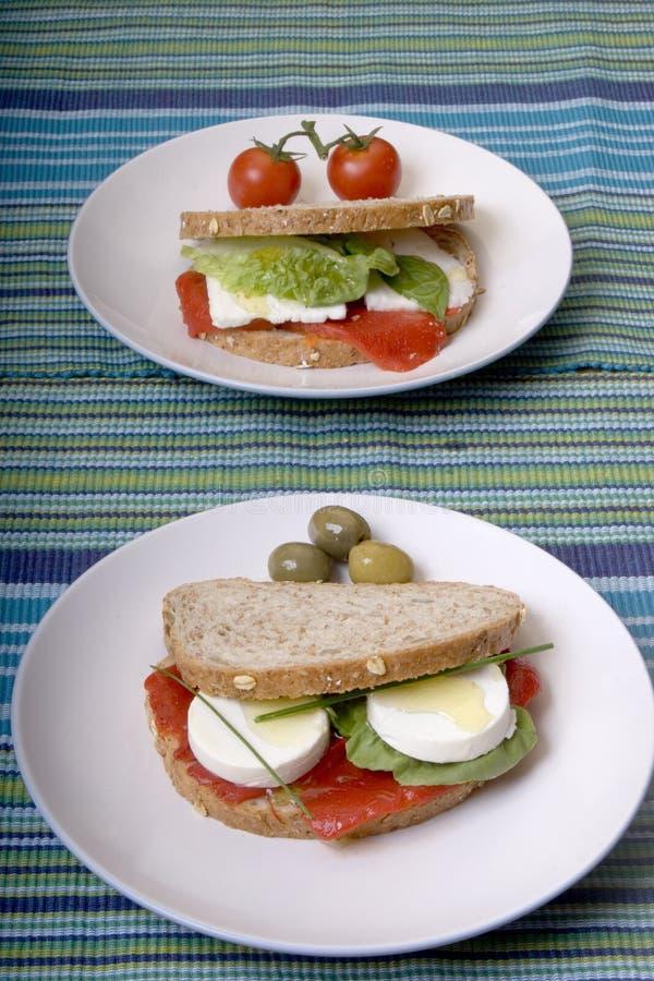 здоровые сандвичи стоковые фотографии rf