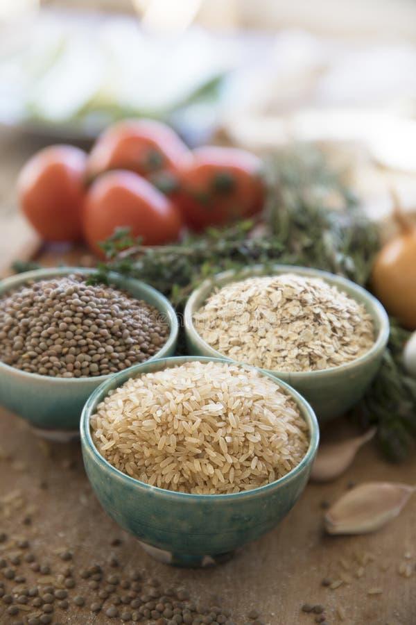 Здоровый варя рис Брайна стоковая фотография