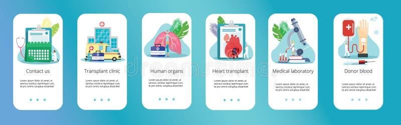 Здоровый даритель человеческого органа бесплатная иллюстрация