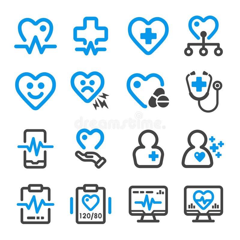 Здоровый и медицинский комплект значка бесплатная иллюстрация