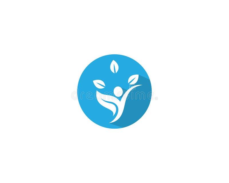 Здоровый логотип жизни иллюстрация вектора