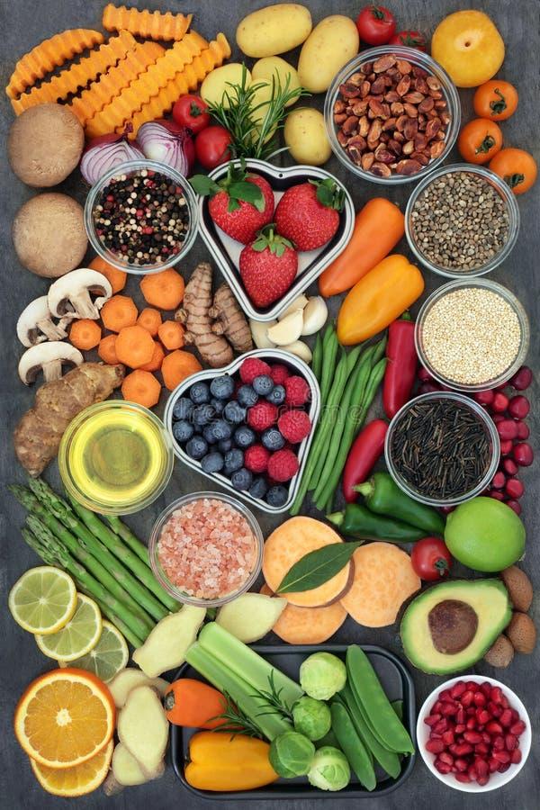 Здоровый супер выбор еды стоковые фотографии rf