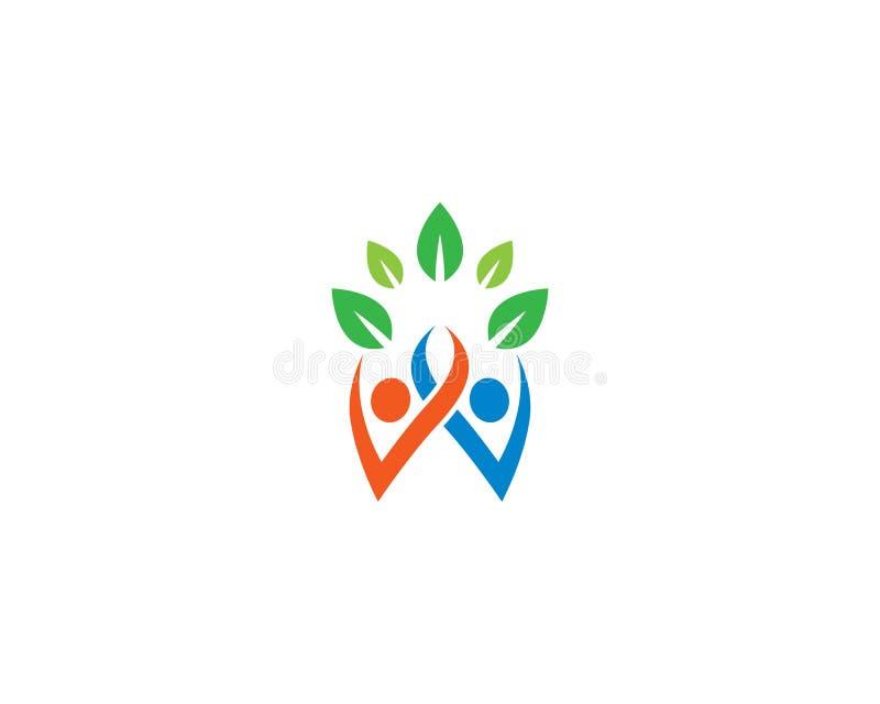 Здоровый шаблон логотипа жизни иллюстрация штока