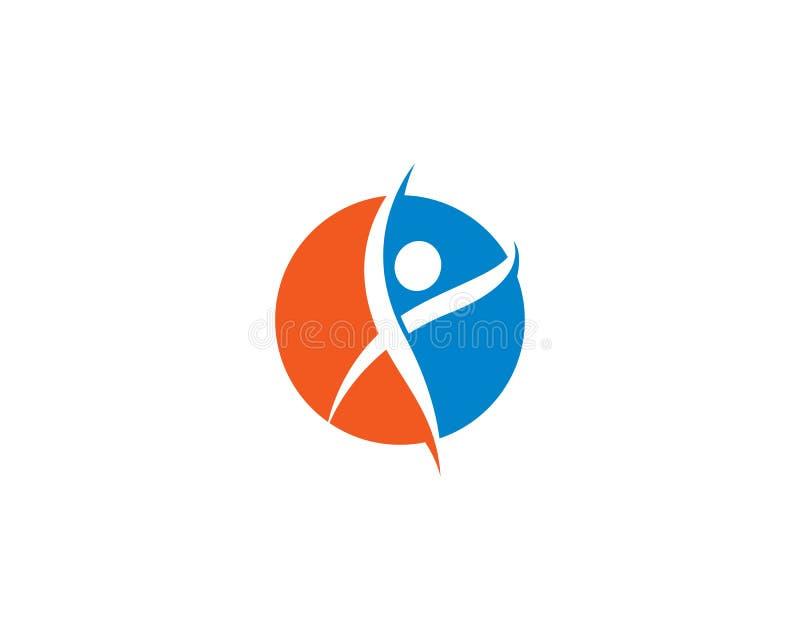 Здоровый шаблон логотипа жизни бесплатная иллюстрация