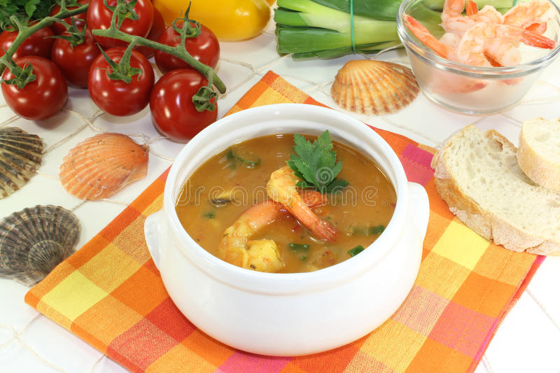 Здоровый bouillabaisse стоковые фотографии rf