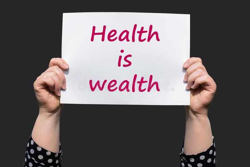 Здоровье богатство стоковое изображение