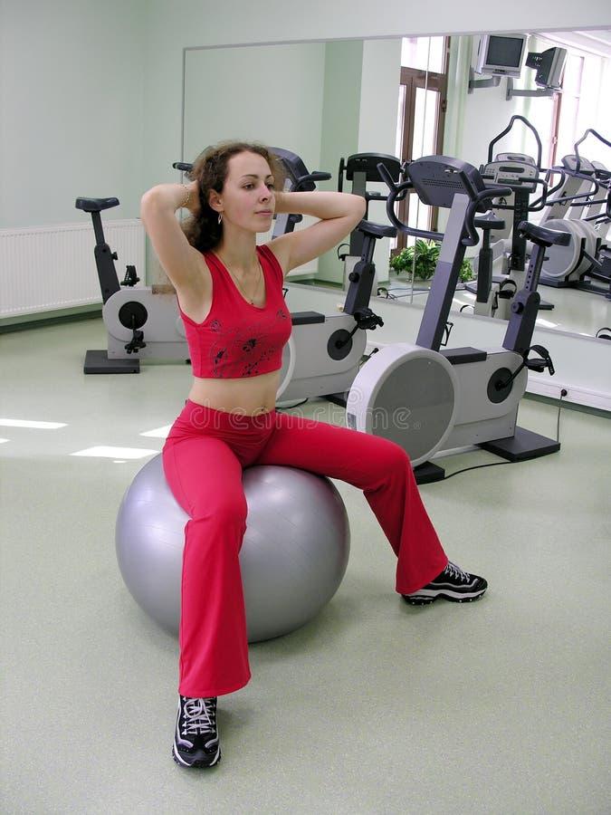 здоровье девушки клуба шарика стоковые изображения