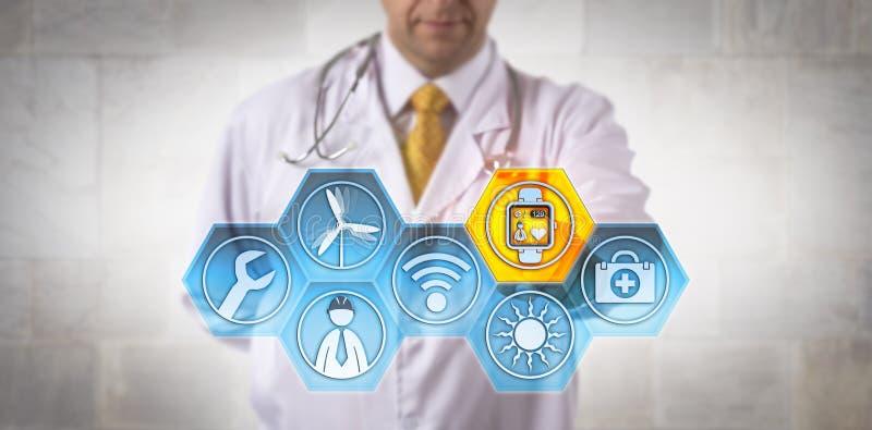 Здоровье контроля врач-клинициста удаленного инженера стоковое изображение