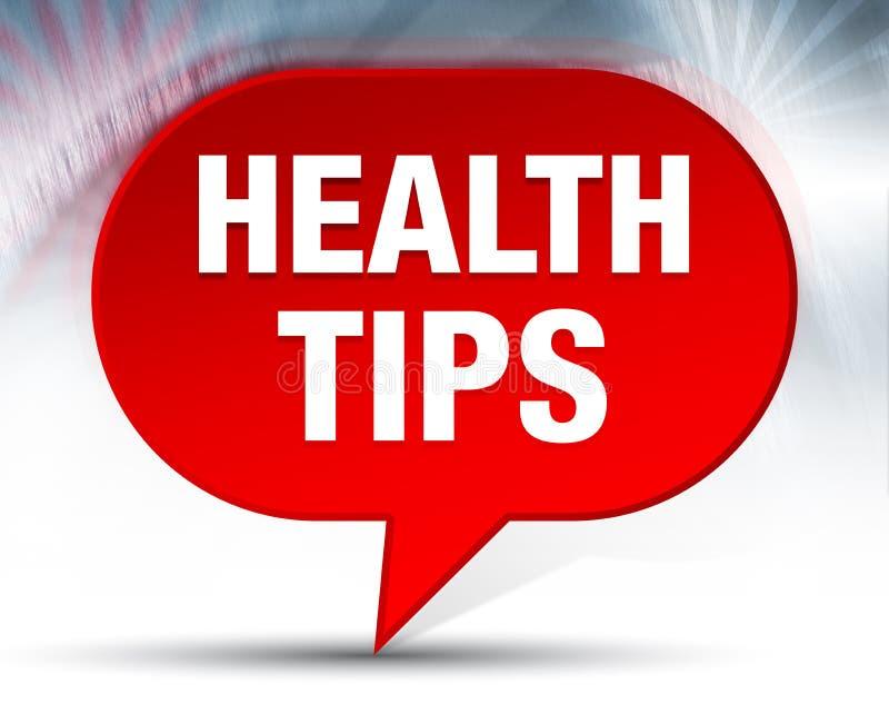 Здоровье наклоняет красную предпосылку пузыря бесплатная иллюстрация