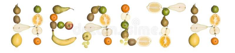 здоровье плодоовощ сделало вне слово стоковые фотографии rf