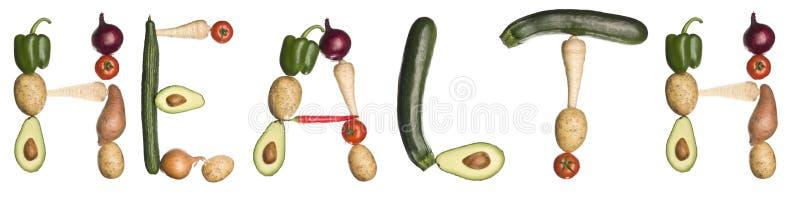 здоровье сделало вне овощами слово иллюстрация штока