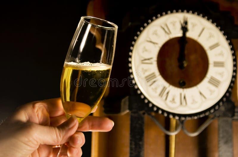 здравица шампанского стоковая фотография rf