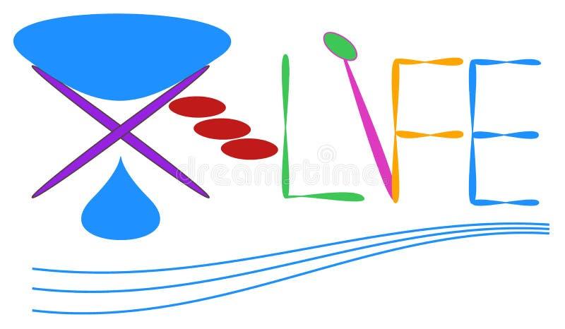 здравоохранение или логотип центра вакцины или медицины или диагностик в мирах иллюстрация штока