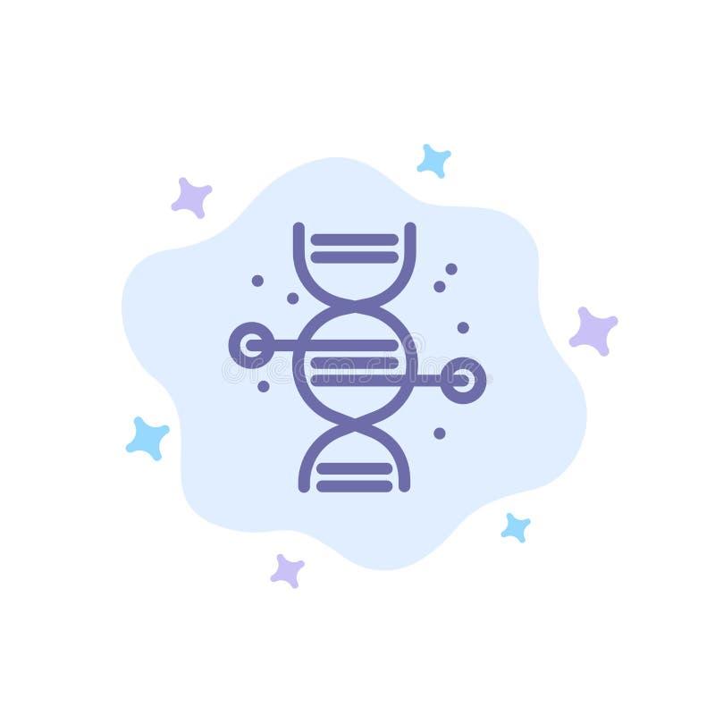 Здравоохранение, медицина, синий значок с костями на абстрактном облачном фоне иллюстрация штока